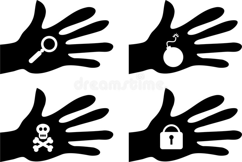 Handy objects stock illustration