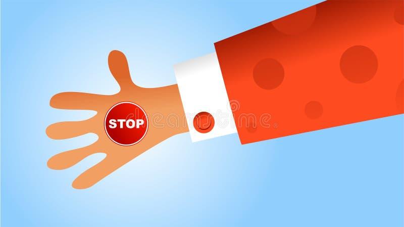 Handy stop vector illustration