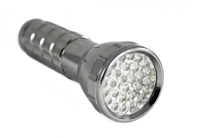 Handy torch with LED royalty free stock photo