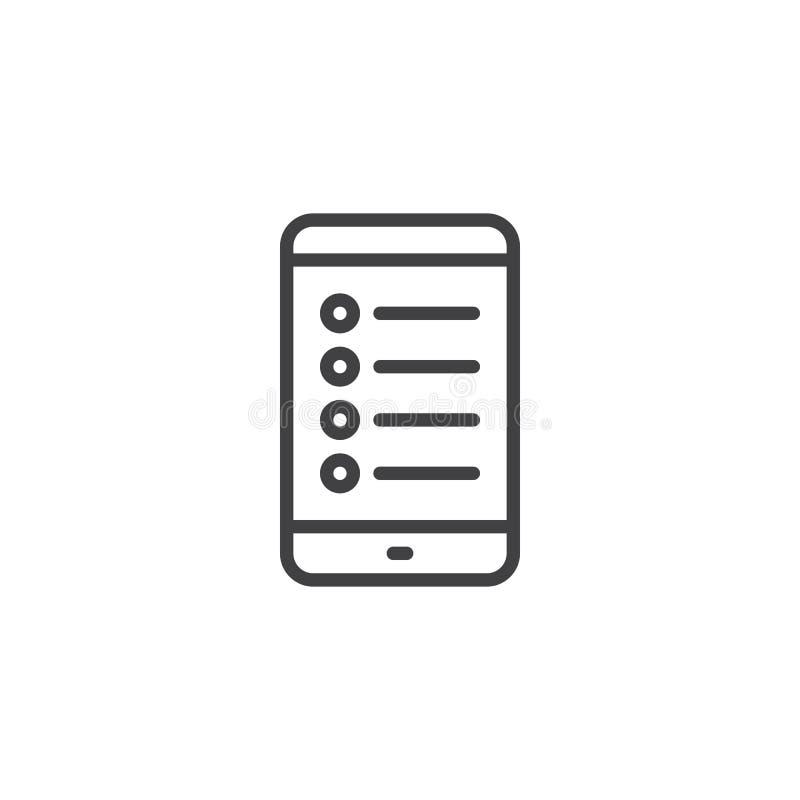 Handychecklisten-Entwurfsikone stock abbildung