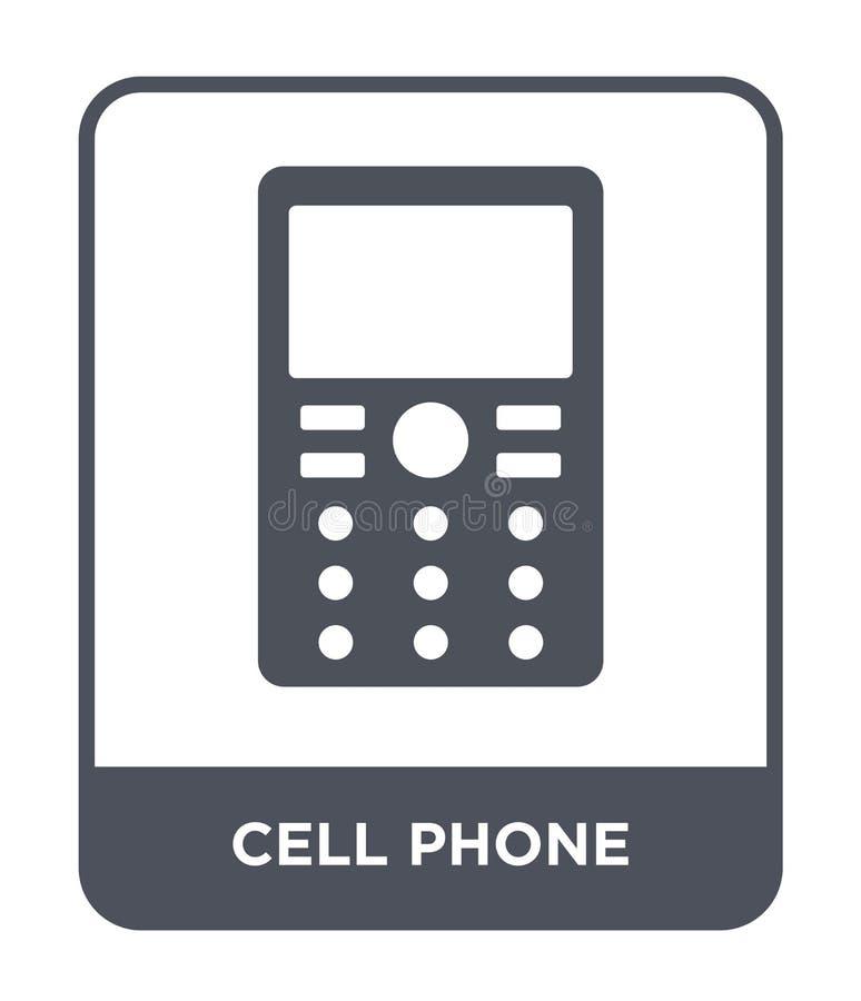 Handyikone in der modischen Entwurfsart Handyikone lokalisiert auf weißem Hintergrund Handyvektorikone einfach und modern lizenzfreie abbildung