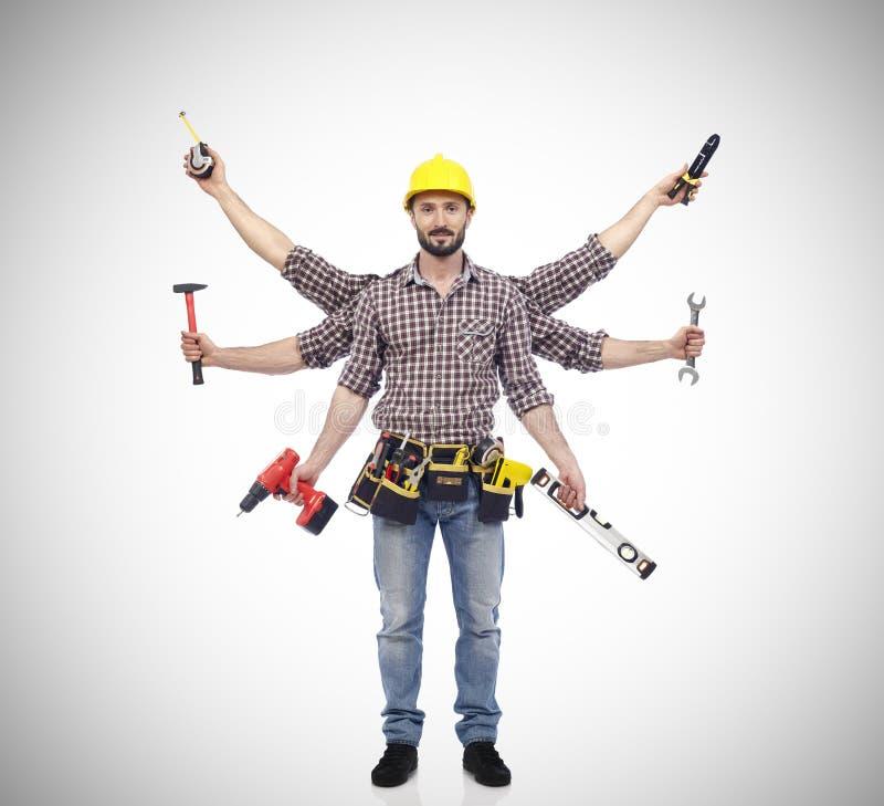 Handyman με τα εργαλεία στοκ φωτογραφίες