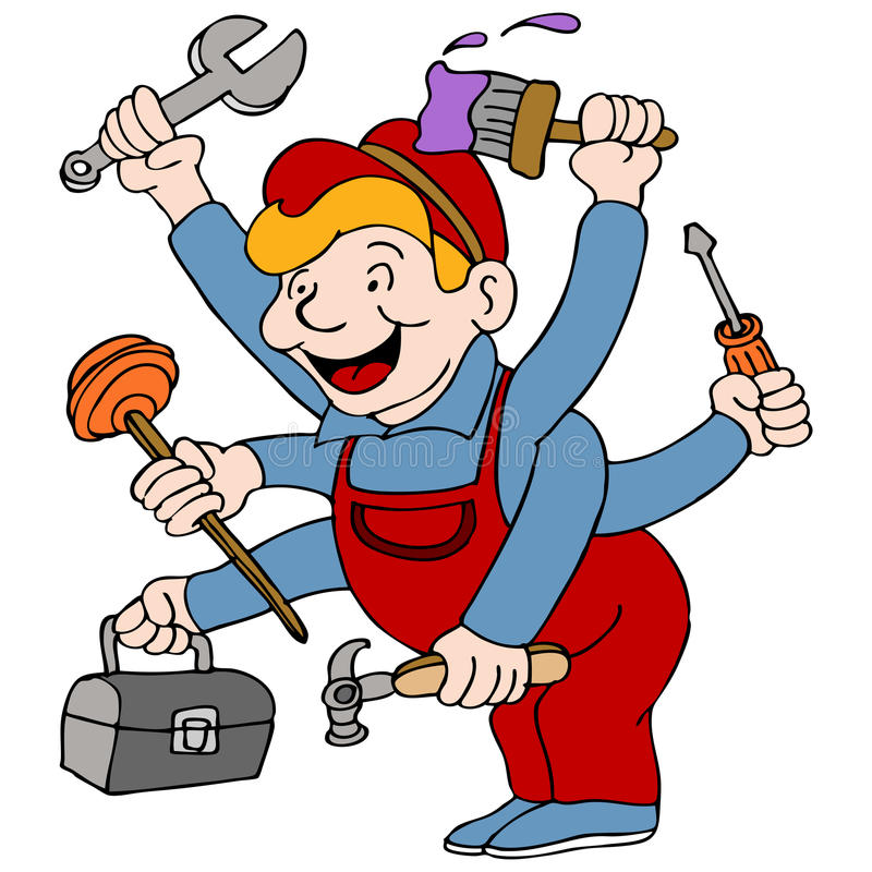Handyman vector illustration
