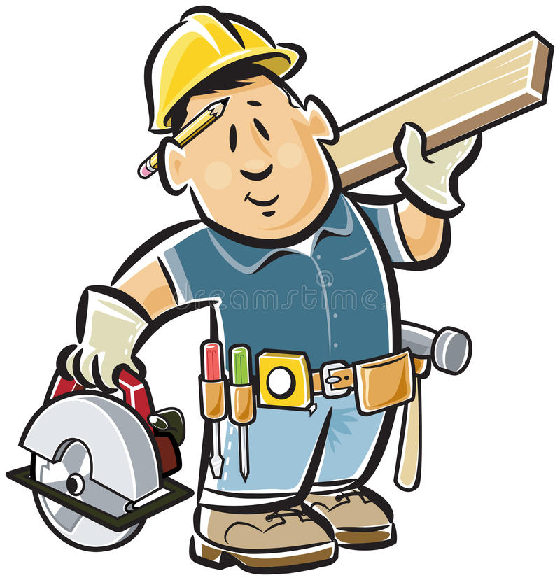 Handyman carpenter vector illustration