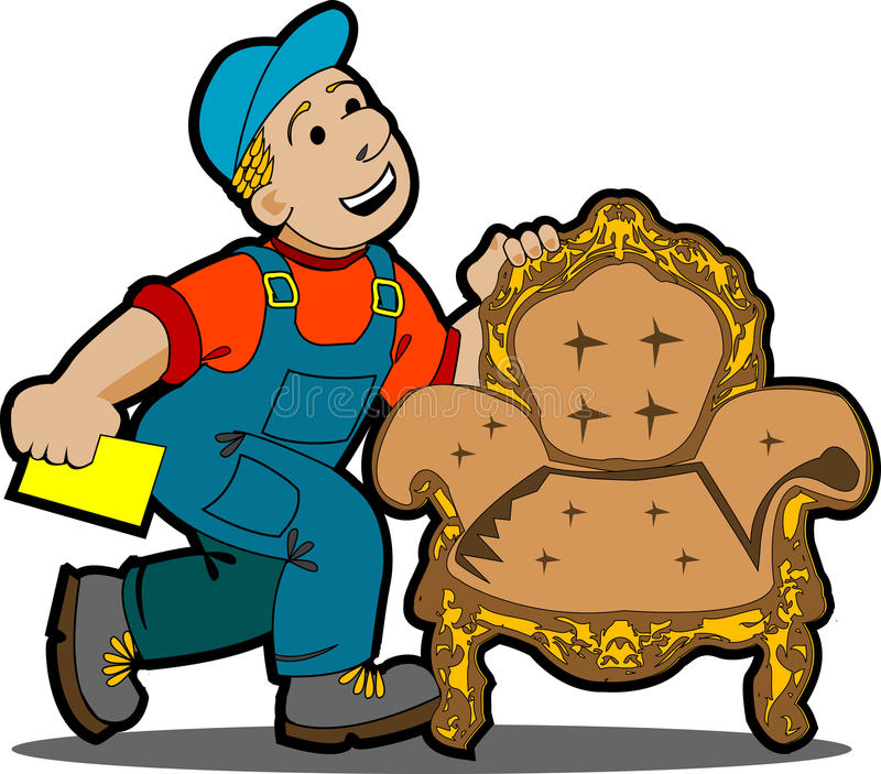 Handyman Cartoon. Stock Photos