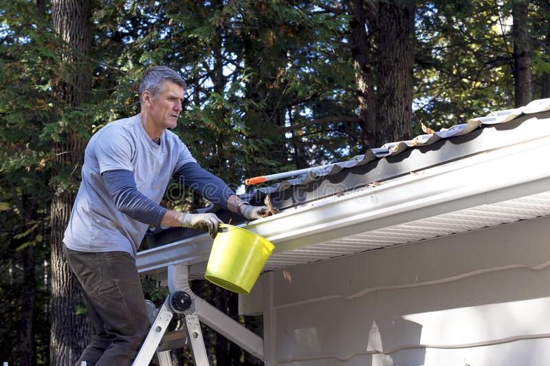 Handyman performing Home Maintenance - royalty free stock photography