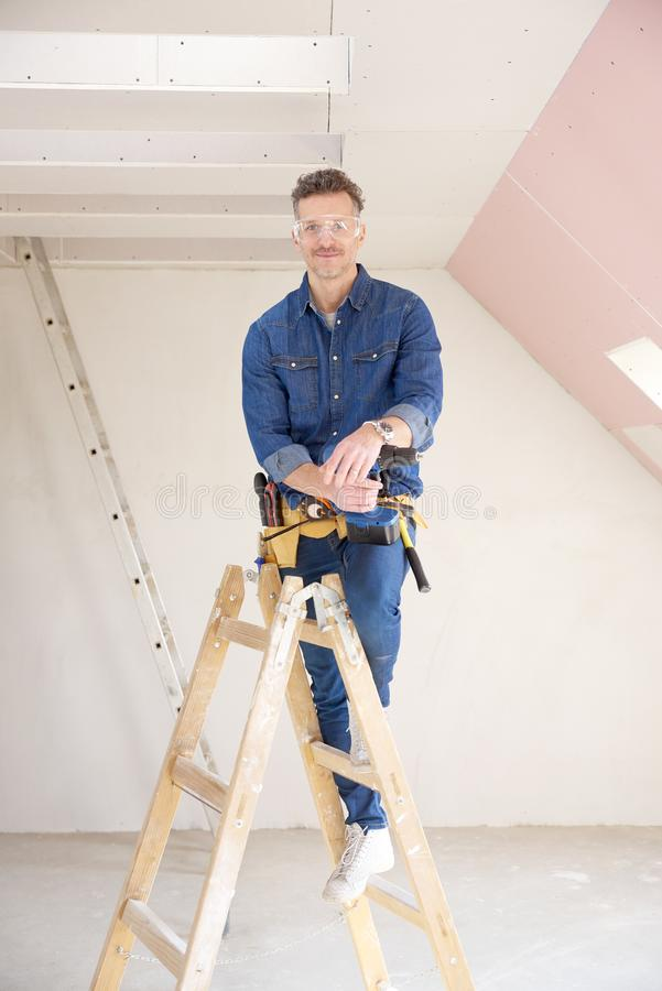 Handyman portrait royalty free stock photos