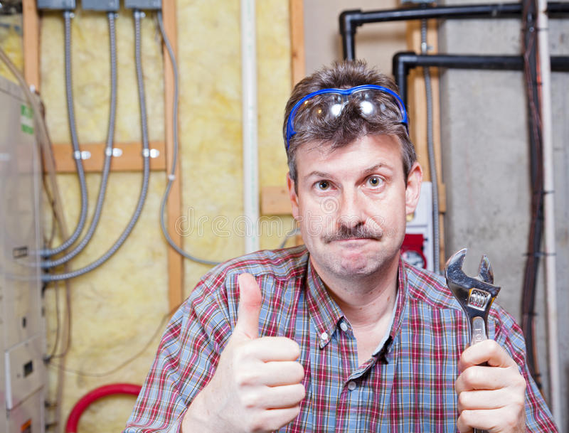 Download Handyman stock image. Image of plumbing, worker, wrench - 32040887