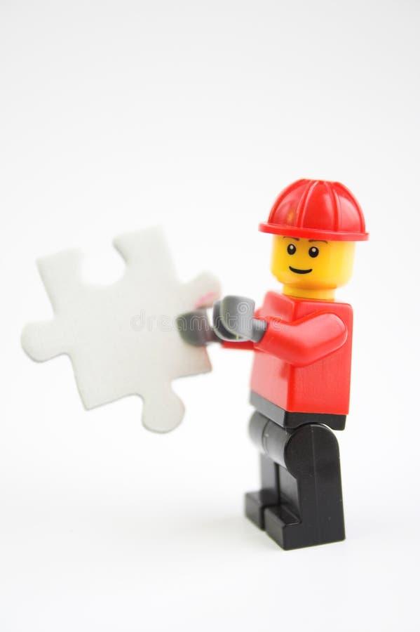 Handyman puzzle stock image
