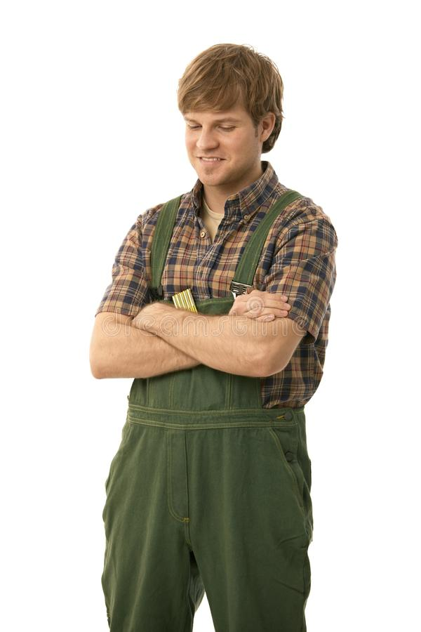 Handyman Standing Arms Crossed Stock Image