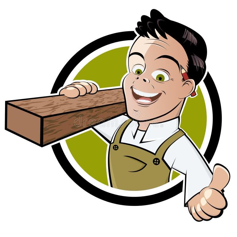 Handyman with thumb up stock illustration