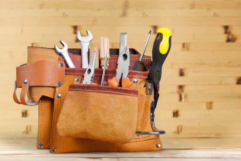 Handyman tool belt royalty free stock photos