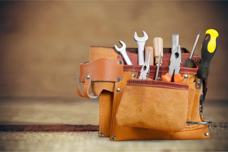 Handyman tool belt royalty free stock photography