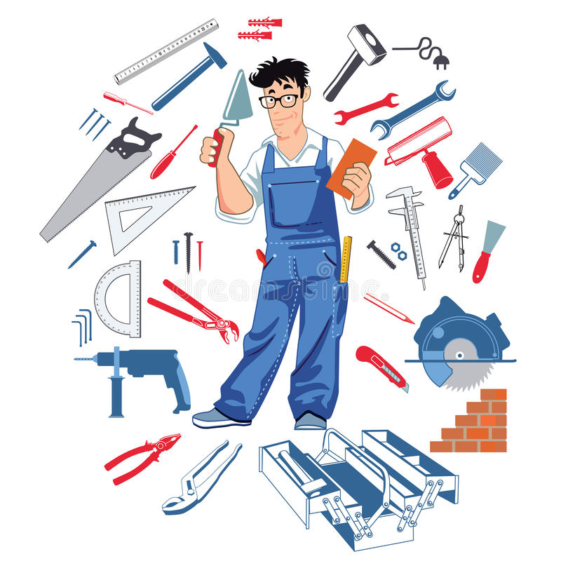 Free Handyman With Tools Royalty Free Stock Image - 67831566
