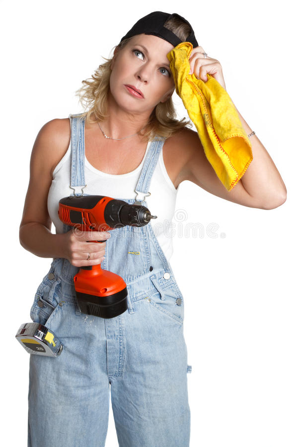 Handyman Woman stock photos