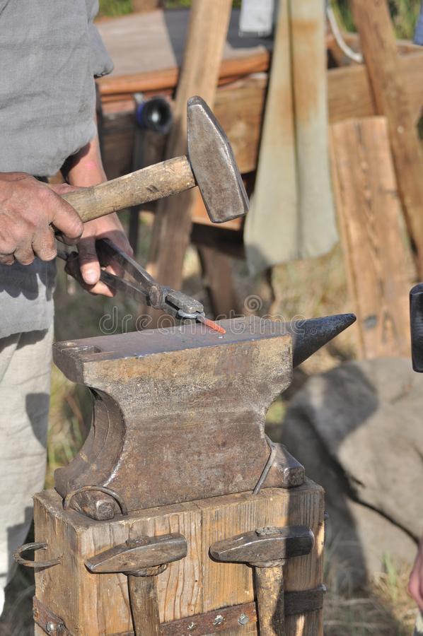 Anvil and hammers royalty free stock image