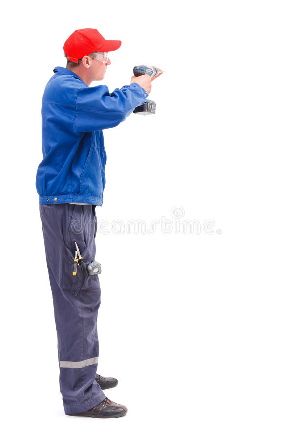 Handyman working royalty free stock image