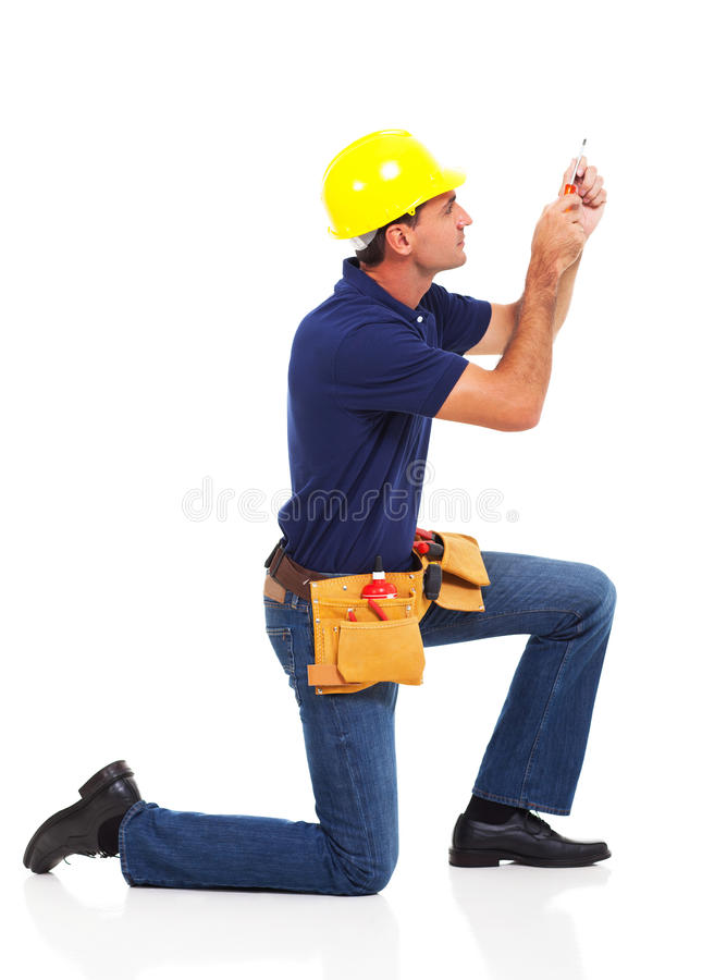 Handyman working royalty free stock images