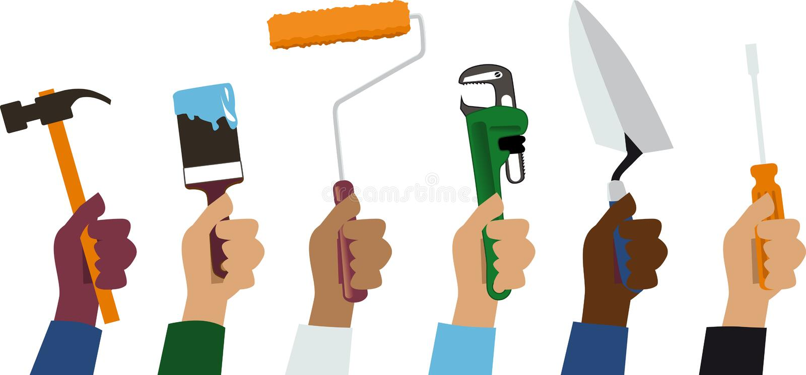 Handymen looking for a job vector illustration