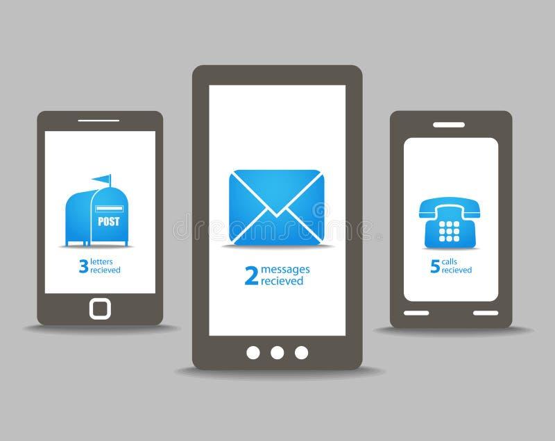 Download Handys mit Sprachewolken vektor abbildung. Illustration von ausrüstung - 27733500
