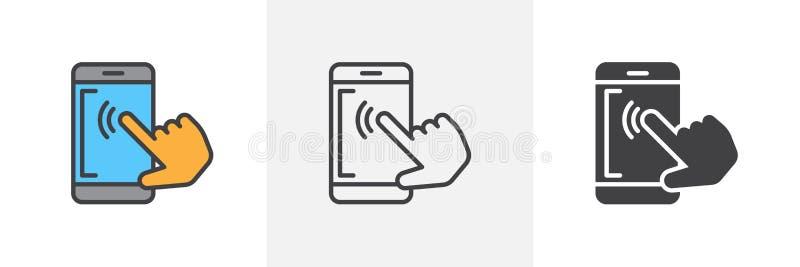 HandyTouch Screen Ikone lizenzfreie abbildung