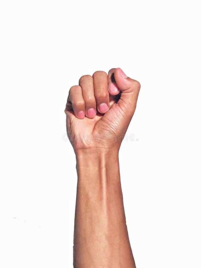Handzeichen lokalisiert auf wei?em Hintergrund lizenzfreies stockfoto