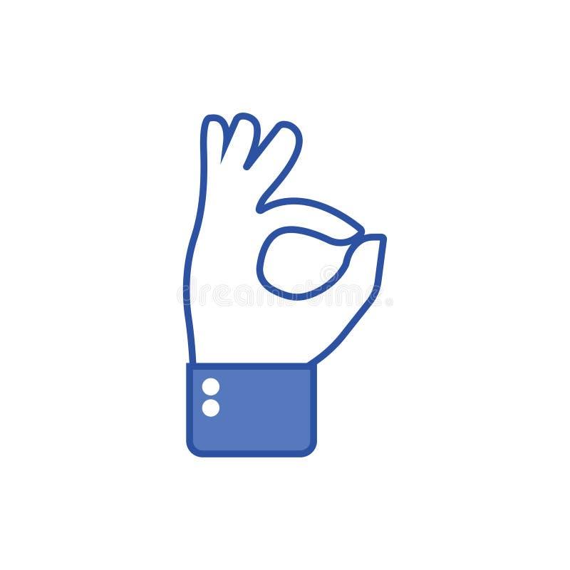 Handzeichen mit O.K., oaky Zeichen Laufende Männer Bedeutet das Nr Wie Geste Hand zeigt Geste des O.K.s, O.K. Auch im corel abgeh stock abbildung