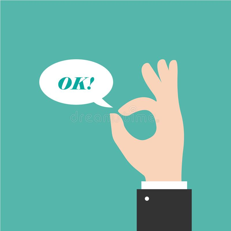 Handzeichen - OKAY Gestenikone vektor abbildung