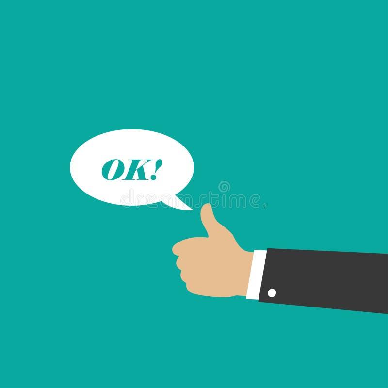 Handzeichen - OKAY Gestenikone Vektor stock abbildung