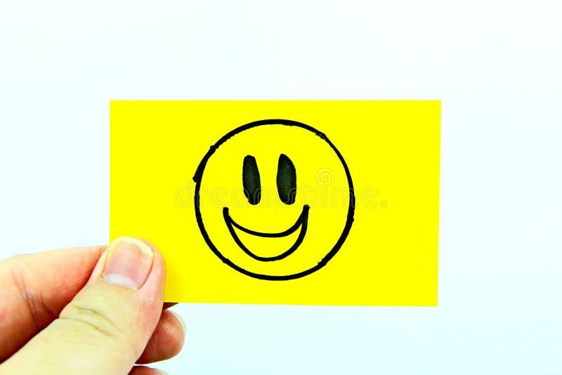 Handzeichnung emoji mit Emoticongesicht stockfoto