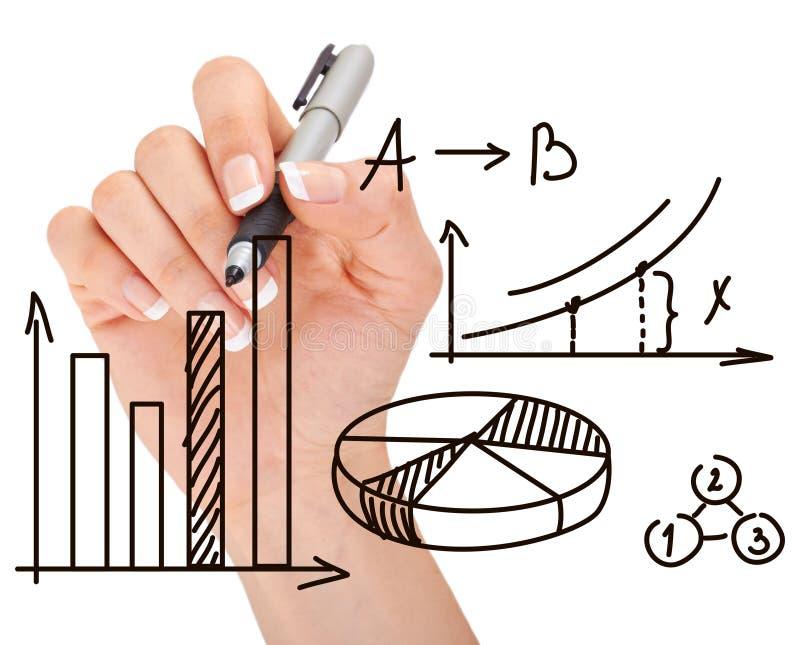 Handzeichnungsdiagramm Auf Whiteboard Stockbild - Bild von kreativ ...