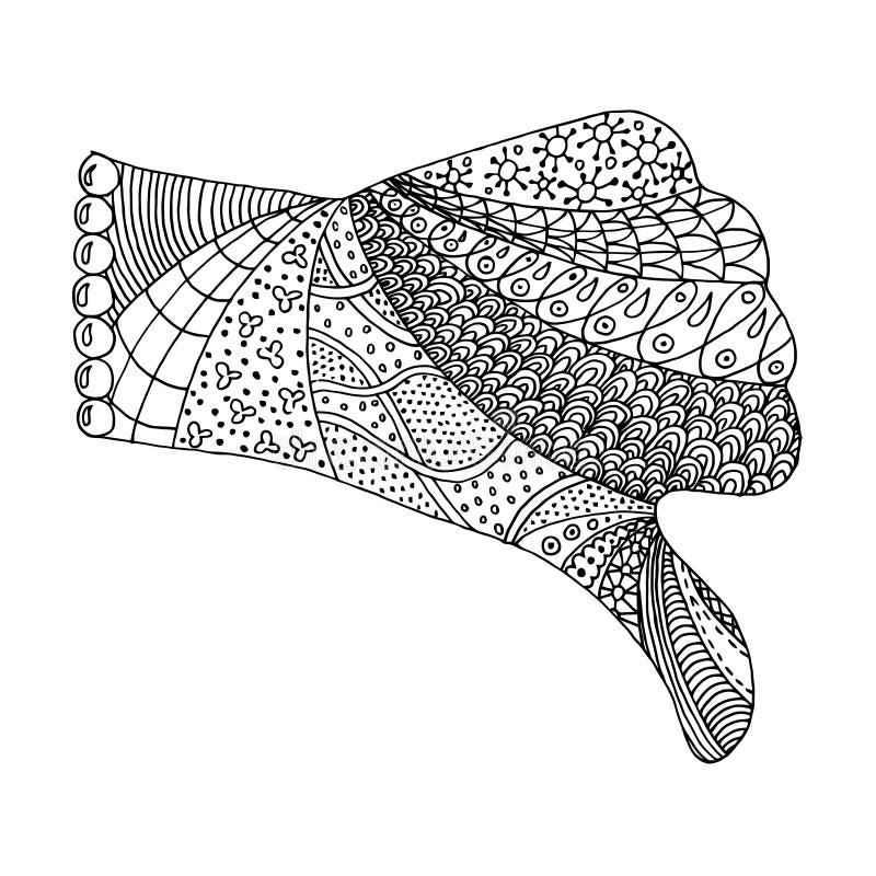 Handzentangle och zendoodlevektor Armzenart Nävezenklotter och zentova stock illustrationer