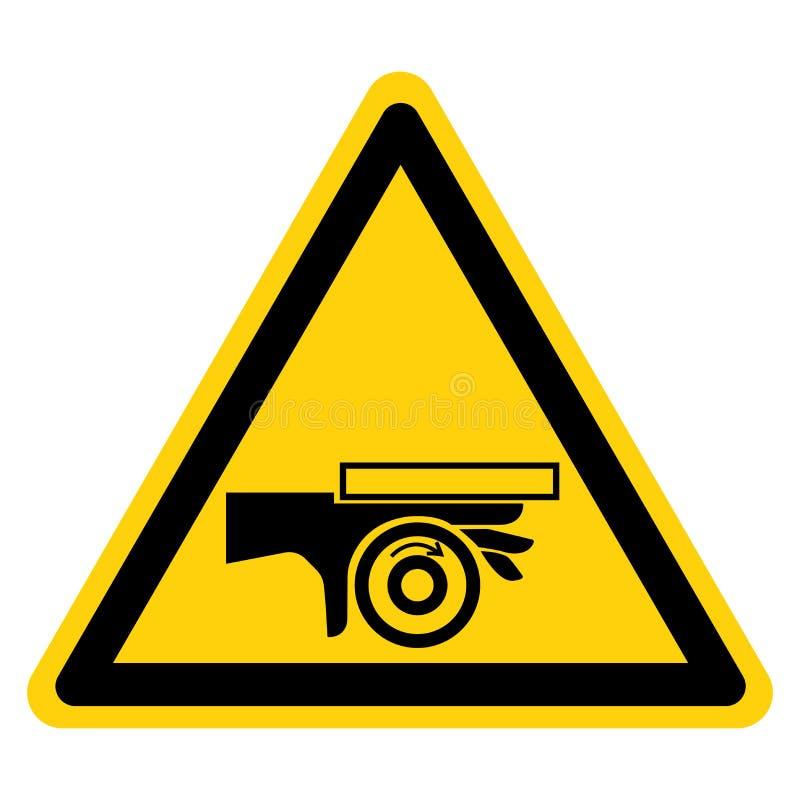 Handzerstampfungs-Rollen-Klemmpunkt-Symbol-Zeichen-Isolat auf wei?em Hintergrund, Vektor-Illustration lizenzfreie abbildung
