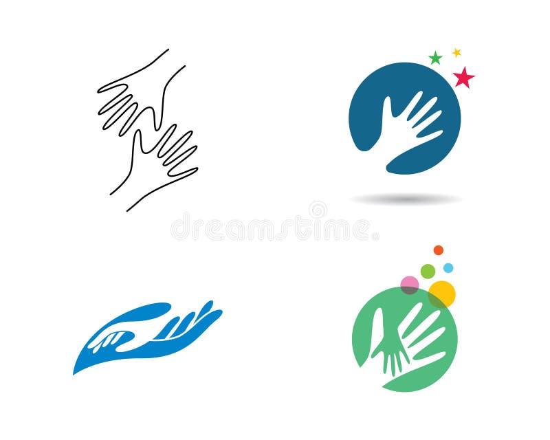 Handzorg Logo Template royalty-vrije illustratie