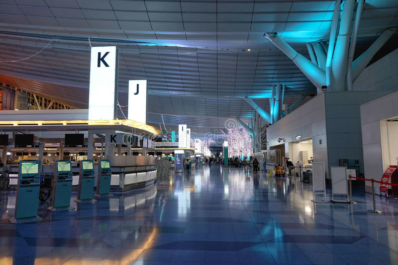 Haneda-Flughafen, Japan - internationaler Flughafen Tokyos stockfotografie