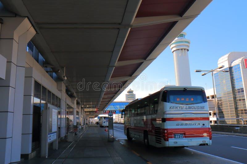 Haneda international airport bus terminal Tokyo Japan stock photos