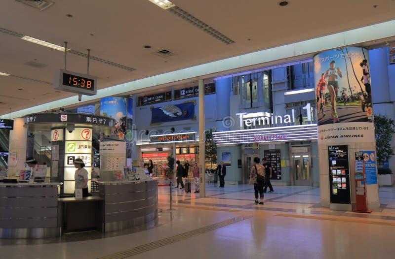 Haneda internationell flygplats Tokyo Japan arkivbilder