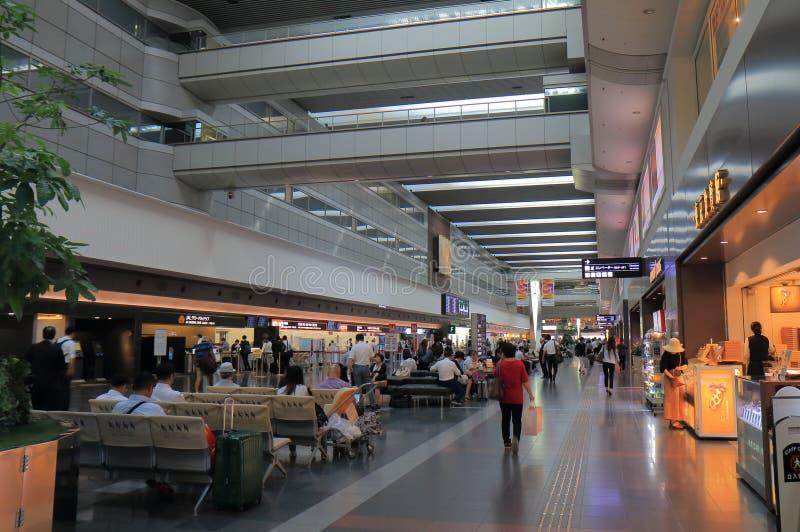 Haneda internationell flygplats Tokyo Japan royaltyfri fotografi