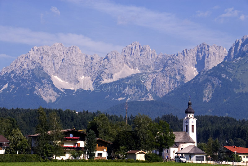 Hanenkam with Oberdorf in foreground stock image