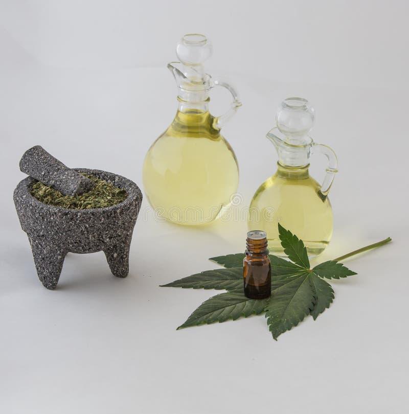 Hanf-ätherisches Öl stockfotografie