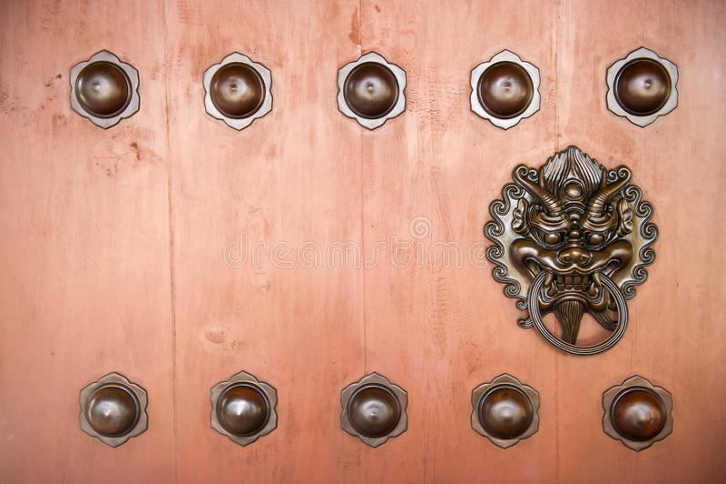 Download Hang Door Knocker Metal  In Nunnery Temple, Hong Kong. Stock Image - Image: 29166161