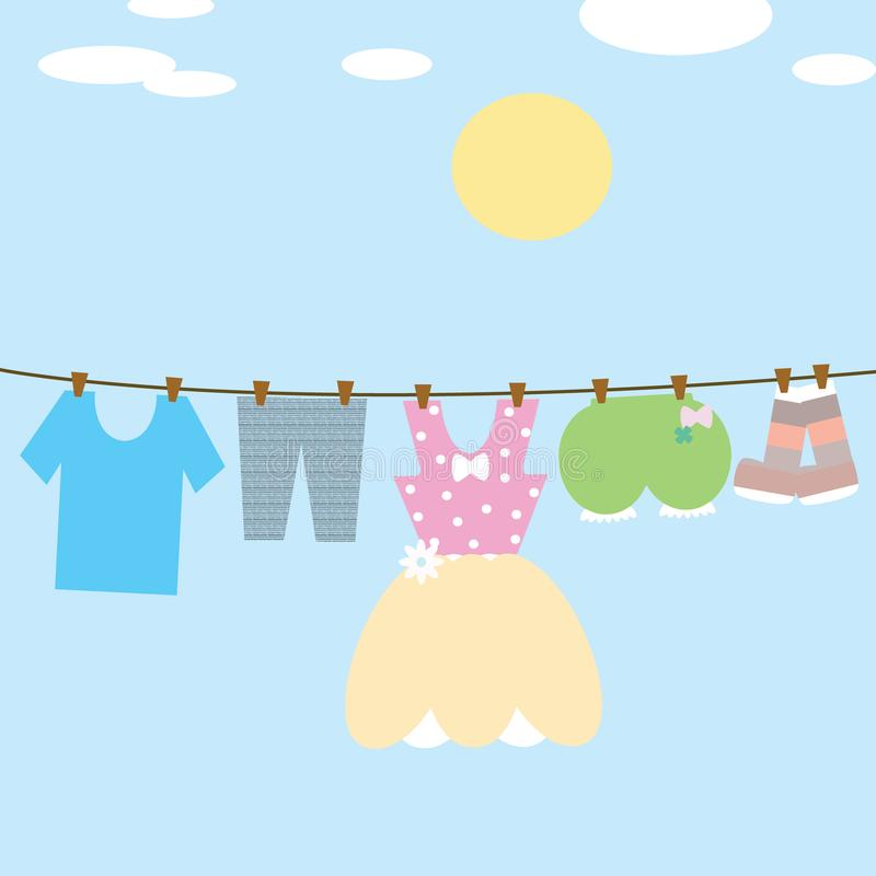 Free Hang Dry The Clothes Stock Images - 120069004