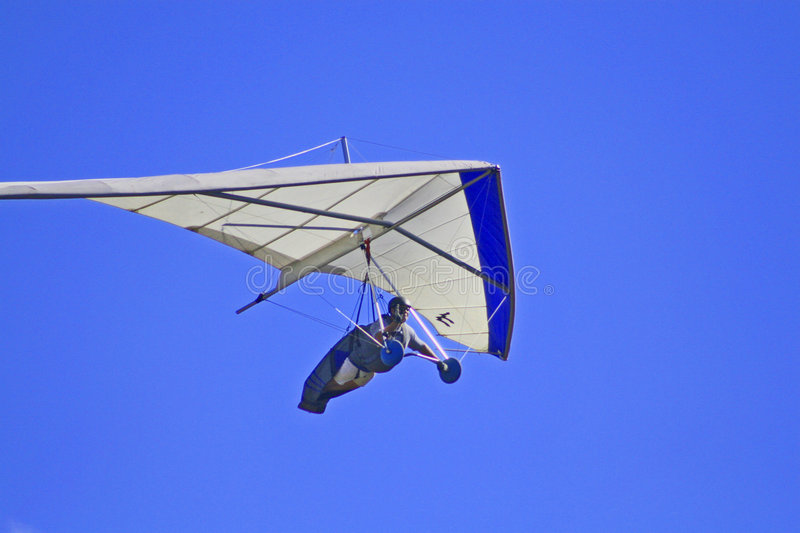Hang glider. The San Bernardino mountaians are a popular place for hang gliding royalty free stock image