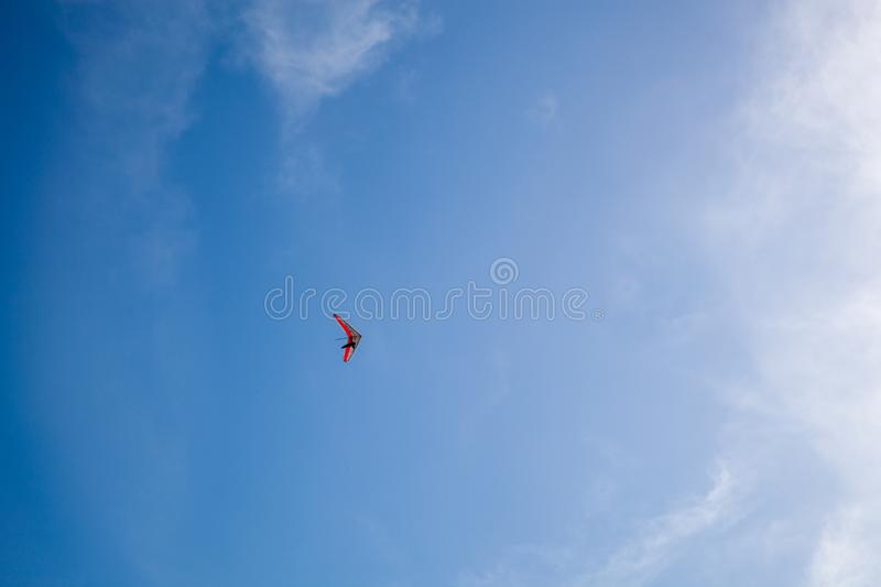 The hang glider. Above the blue sky royalty free stock photos