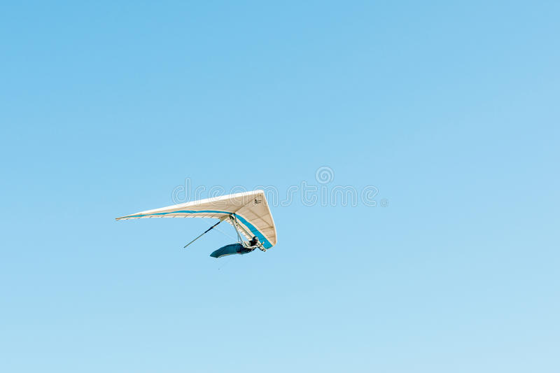 Hang glider in the air royalty free stock images