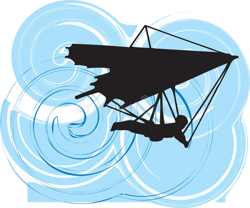 Hang Glider. illustration. vector illustration