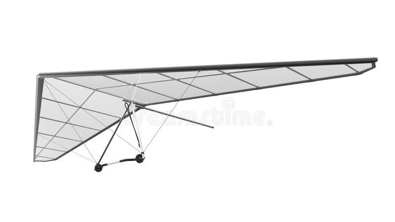 Hang Glider Isolated op Witte Achtergrond royalty-vrije stock afbeeldingen