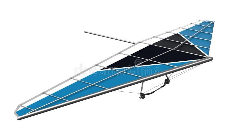 Hang Glider Isolated på vit bakgrund royaltyfri fotografi
