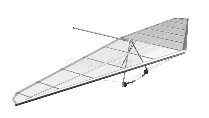 Hang Glider Isolated på vit bakgrund fotografering för bildbyråer
