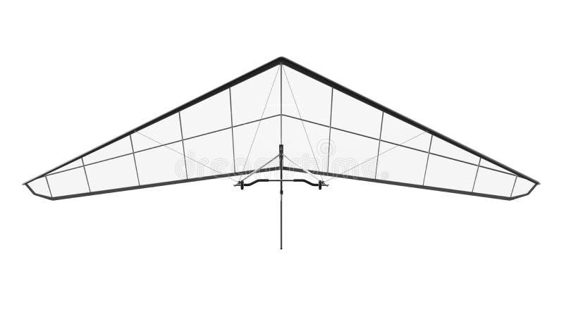 Hang Glider Isolated på vit bakgrund arkivbild